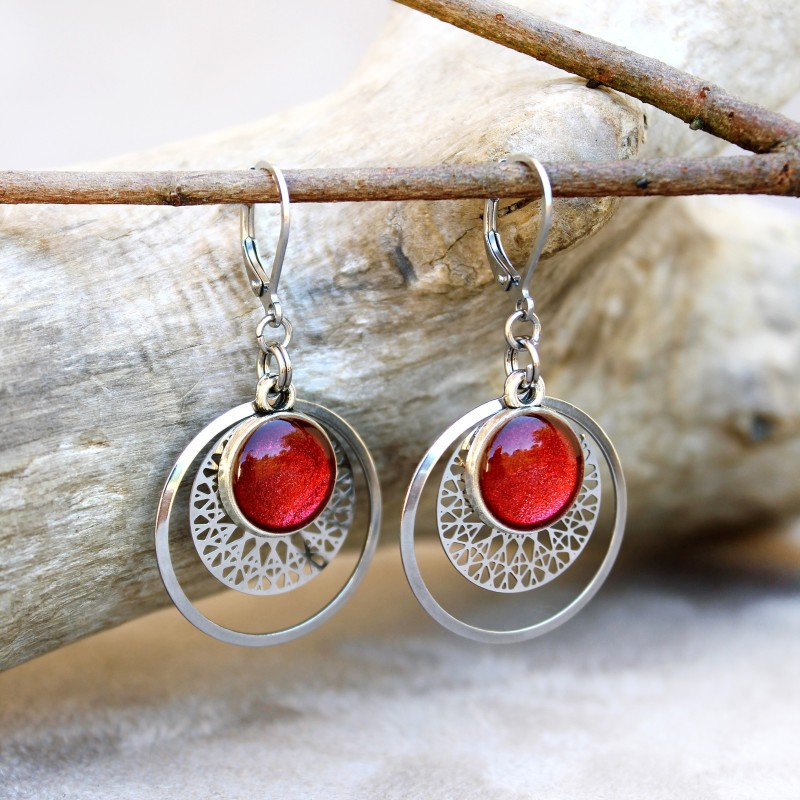Boucles Estampes Paprika